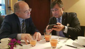 """Pelegrina en la reunión con representantes del FMI: """"Lo que hay que hacer es eliminar las retenciones"""""""