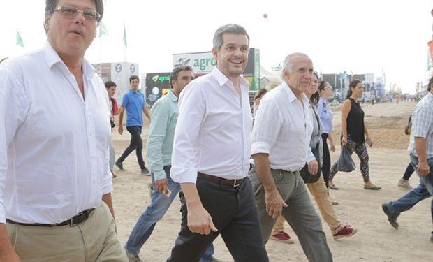 El jefe de Gabinete Marcos Peña visitó Expoagro.