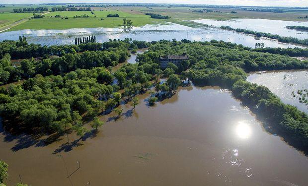 Las inundaciones en la ciudad de Pergamino.