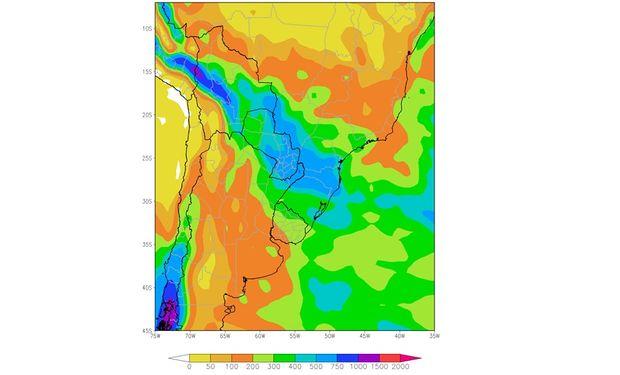 Perspectiva climática Julio-Septiembre 2015. Fuente: BCBA.