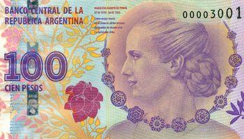 Fuerte reclamo de los banqueros por un billete de más de 100 pesos