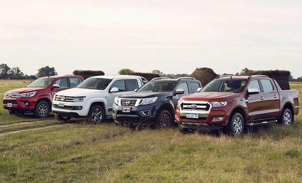 Toyota Hilux, Volkswagen Amarok, Nissan Frontier y Ford Ranger.