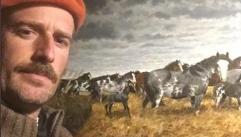 Pintor y productor, llegó a ganar más con el arte que con la ganadería