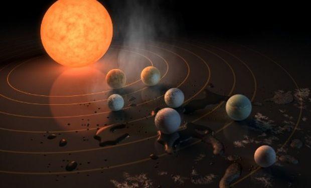"""Descubren un equivalente """"compacto""""del Sistema Solar."""