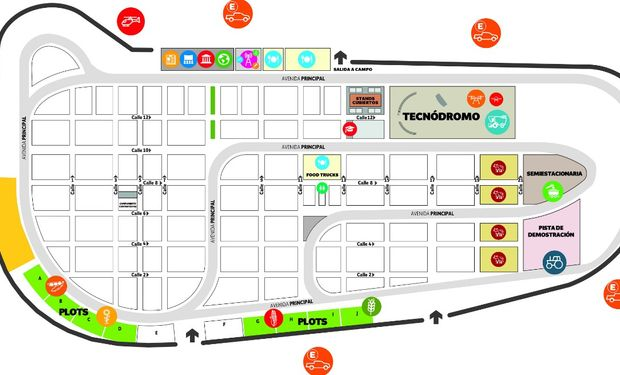 Plano de la nueva edición de Expoagro. Foto: Prensa Expoagro.
