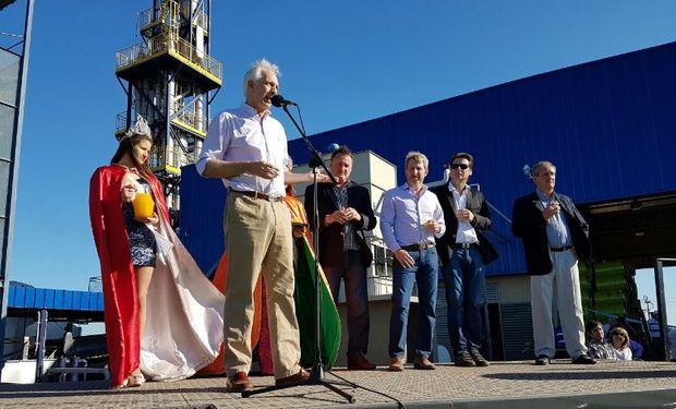 El Jefe de Gabinete Guillermo Bernaudo dio su discurso en la planta de Jucofer.