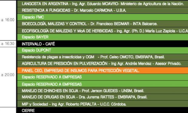 Programa de actividades: por la tarde, plenario.
