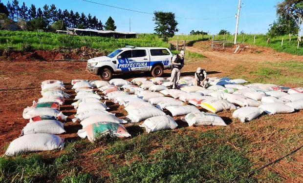 Secuestraron un cargamento de soja a la vera de un río en Misiones