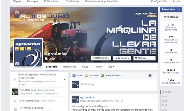 Semanalmente desde AgroActiva se publican fotos, videos y noticias de distintas marcas (expositoras de la feria).