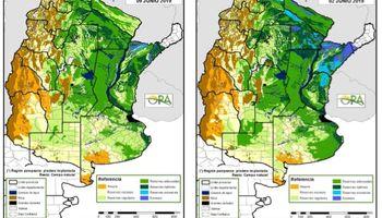 Fuerte retroceso de los excesos de agua en buena parte del NEA