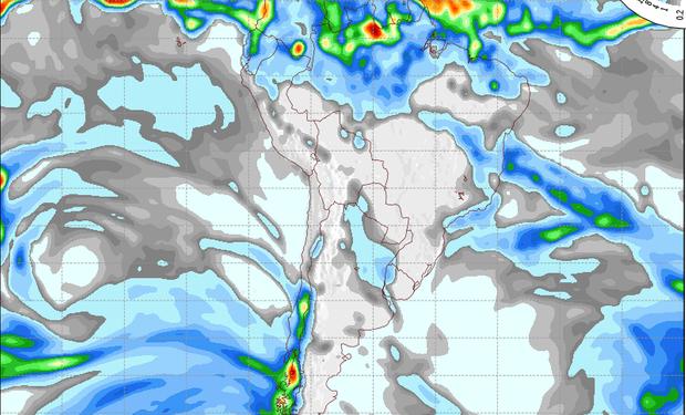 Mapa de precipitaciones válido para el 30 de mayo de 2014.