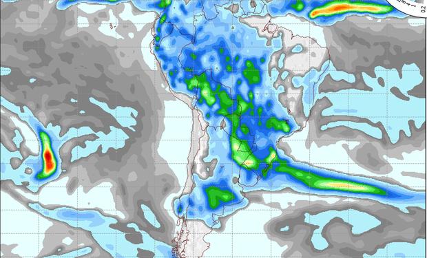 Pronóstico de precipitaciones válido para el 3 de noviembre de 2014