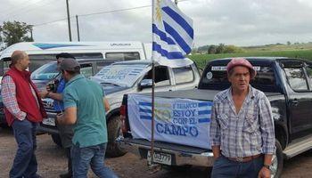 Productores rurales se movilizaron en Uruguay