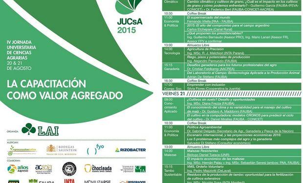 20 y 21 de agosto en la Facultad de Agronomía de la UBA.