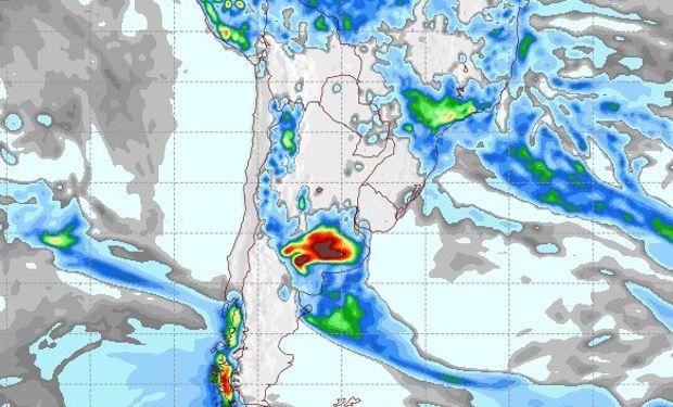Pronóstico de precipitaciones para el 25 de enero.