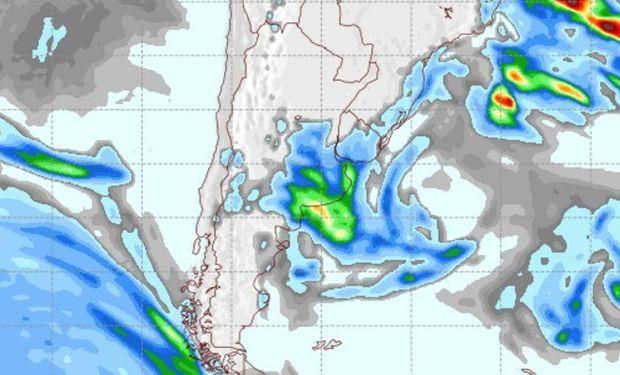 Pronóstico de precipitaciones para el sábado 8 de octubre.