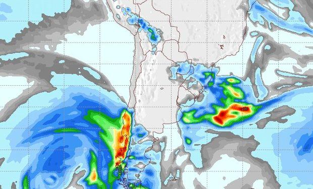 Pronóstico de lluvias para el 9 de agosto.