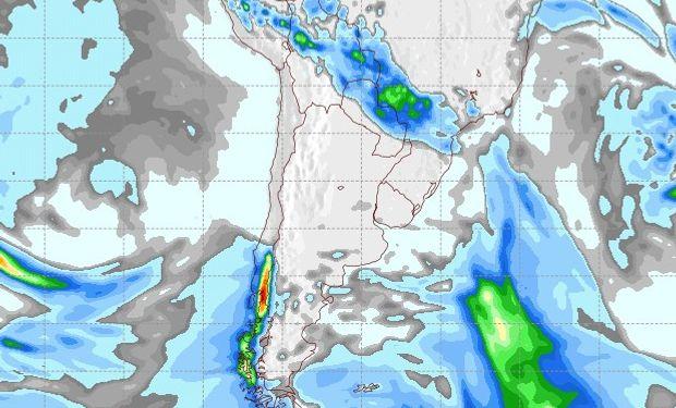 Pronóstico de precipitaciones para el 15 de agosto.