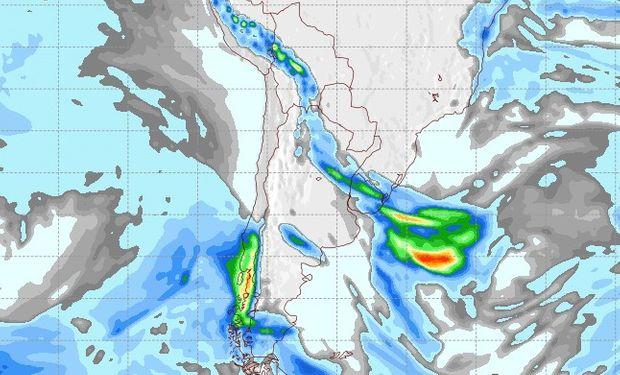 Pronóstico de lluvias para el viernes 8 de septiembre.