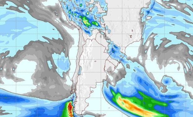 Pronóstico de precipitaciones para el 12 de septiembre.