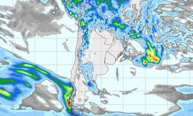 Pronóstico de lluvias para el 16 de febrero.