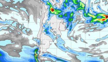 El lunes las lluvias pueden progresar sobre la franja central