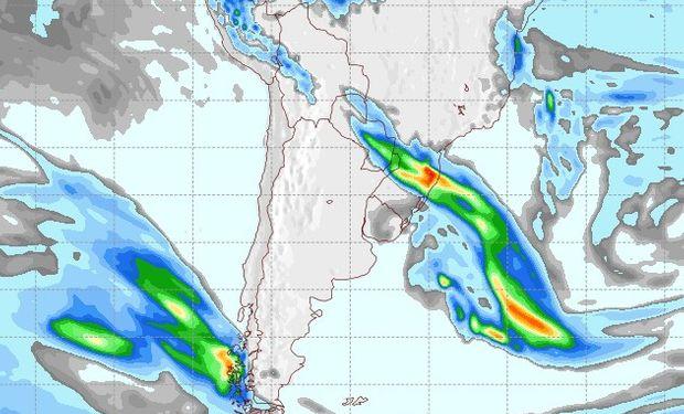 Pronóstico de lluvias para el 22 de agosto.