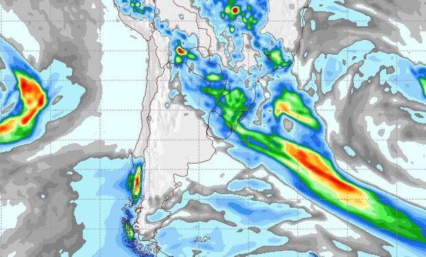Pronóstico de lluvias para el 2 de octubre.