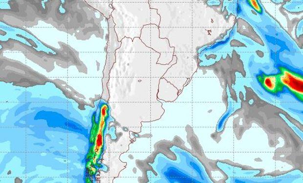 Pronóstico de precipitaciones para el 7 de junio.