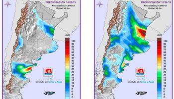 El pronóstico del clima muestra precipitaciones persistentes sobre el centro