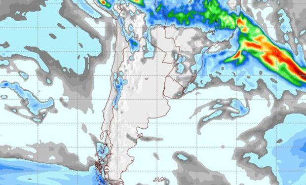 Pronóstico de precipitaciones para el 21 de marzo de 2017.
