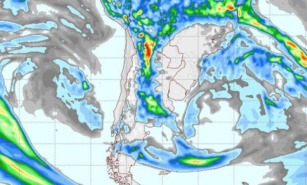 Pronóstico de lluvias para el 1 de abril.