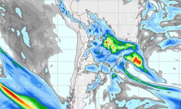 Pronóstico de precipitaciones para el 20 de agosto.