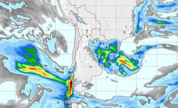 Pronóstico de lluvias para el 30 de junio.