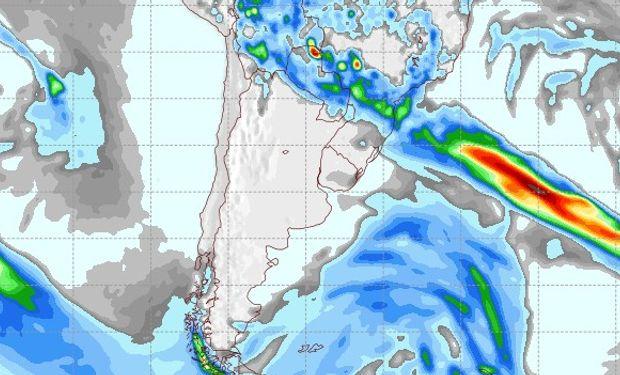 Pronóstico de lluvias para el 4 de octubre.