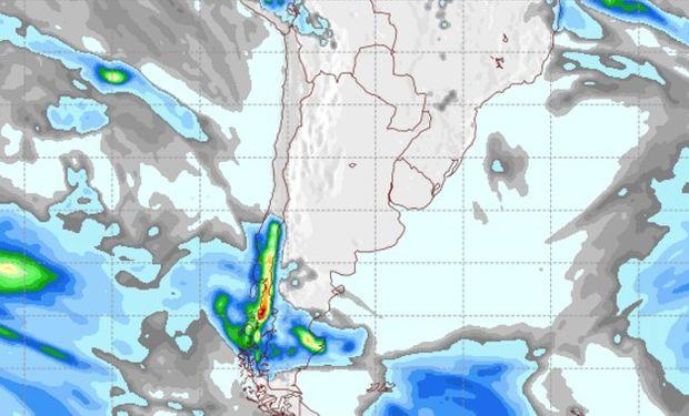Pronóstico de lluvias para el viernes 26 de agosto.