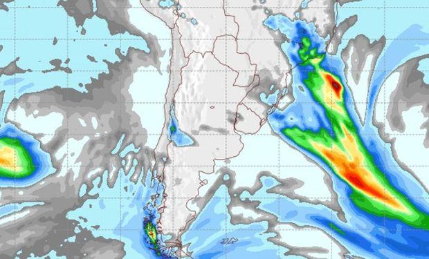 Pronóstico de precipitaciones para el jueves 1 de septiembre.