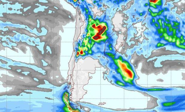 Pronóstico de precipitaciones para el sábado 11 de febrero de 2017.