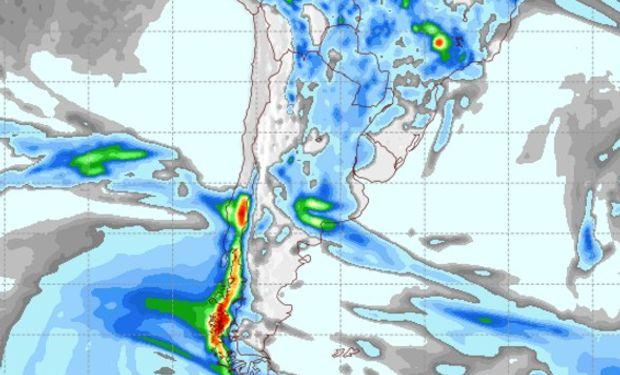 Pronóstico de lluvias para el miércoles 12 de octubre.