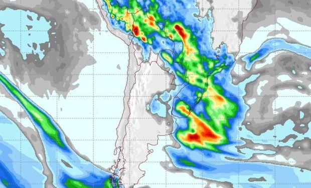 Pronóstico de lluvias para el jueves 27 de octubre.