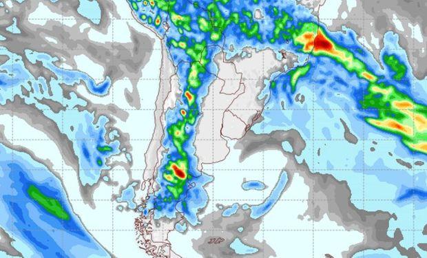 Pronóstico de lluvias para el 29 de marzo.