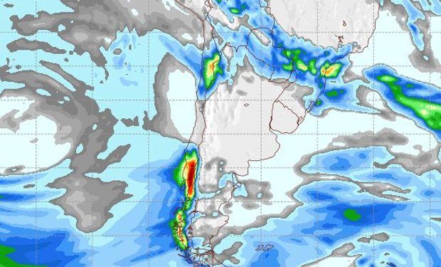 Pronóstico de precipitaciones para miércoles 7 de junio.