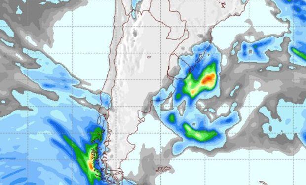 Pronóstico de precipitaciones para el domingo 9 de octubre.