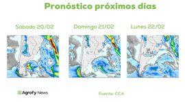 Lluvias: no se descarta que en áreas reducidas se generen tormentas