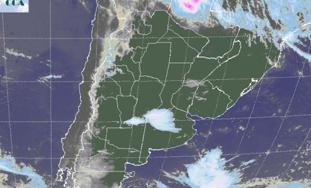 La imagen satelital presenta la continuidad del patrón de estabilidad.
