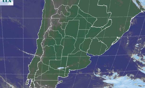 La foto satelital es un reflejo de la dinámica atmosférica.