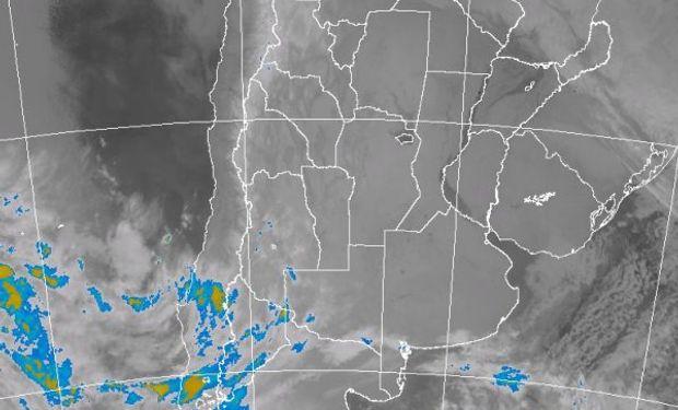Vasto desplegué de cielos despejados favorecidos por la presencia de un sistema de alta presión que se instaló sobre el centro del país