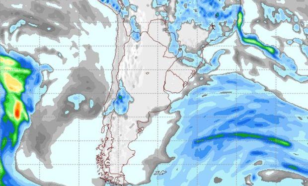 Pronóstico de lluvias para el sábado.