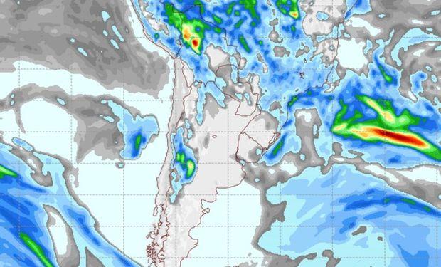 Pronóstico de lluvias para el martes 18 de abril.