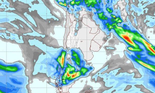 Pronóstico de lluvias para el viernes 7 de abril.